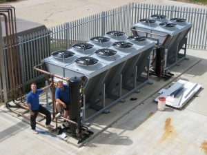 Commissioning the condenser